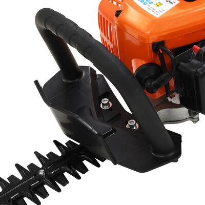vidaXL Benzínové nožnice na živý plot oranžové a čierne 722 mm