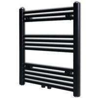 Čierny rebríkový radiátor na centrálne vykurovanie, rovný 600x764 mm