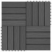 vidaXL Podlahové dlaždice z WPC 11 ks 30x30 cm 1 m2 čierne