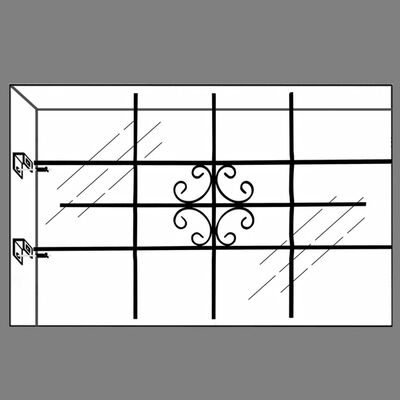 Bezpečnostná mriežka na okno 69 x 114 cm