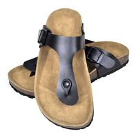 vidaXL Dámske bio korkové sandále/žabky, čierne, veľkosť 38