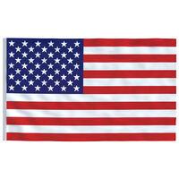 vidaXL Vlajka USA 90x150 cm