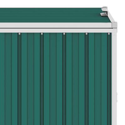 vidaXL Prístrešok na tri odpadkové koše, zelený 213x81x121 cm, oceľ