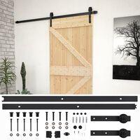 vidaXL Posuvné dvere so sadou kovania 90x210 cm masívne borovicové drevo