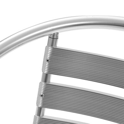 vidaXL 5-dielna vonkajšia jedálenská súprava strieborná hliníková