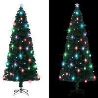 vidaXL Umelý vianočný stromček s podstavcom a LED 240 cm 380 vetvičiek