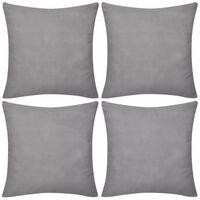 Návliečky na vankúše, 4 ks, bavlna, šedé, 50 x 50 cm