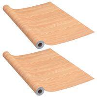 vidaXL Samolepiace tapety na dvere 2 ks javor 210x90 cm PVC