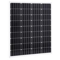vidaXL Solárny panel hliník a bezpečnostné sklo 80 W monokryštalický