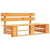 vidaXL Záhradná lavička z paliet, drevo, medovo hnedá