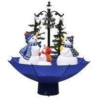 vidaXL Snežiaci vianočný stromček s dáždnikovým podstavcom modrý 75 cm PVC
