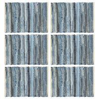 vidaXL Prestierania 6 ks chindi rifľovo-modré 30x45 cm bavlnené