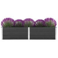 vidaXL Vyvýšený záhradný záhon 250x50x54 cm, WPC, sivý