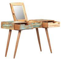 vidaXL Toaletný stolík so zrkadlom 112x45x76 cm masívne recyklované drevo