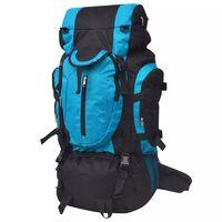 vidaXL Turistický batoh XXL, 75 l, čierny a modrý