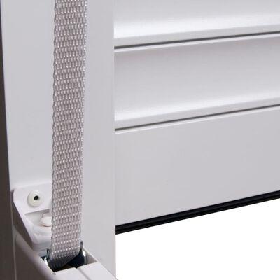 vidaXL Žalúzie biele 100x120 cm hliníkové