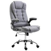 vidaXL Kancelárske kreslo, sivé, polyester