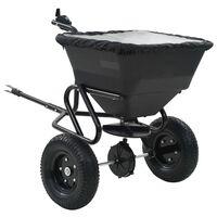 vidaXL Prívesný posypový vozík na soľ, PVC a oceľ 125x74x79 cm, 45 l
