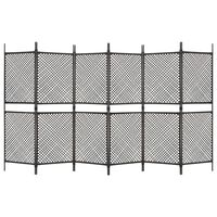 vidaXL Plotový panel polyratan 3,6x2 m hnedý