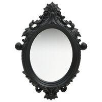 vidaXL Nástenné zrkadlo v zámockom štýle 56x76 cm čierne