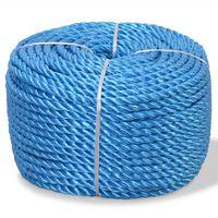 vidaXL Pletené lano polypropylénové 8 mm 500 m modré