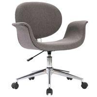 vidaXL Otočná kancelárska stolička sivá látka