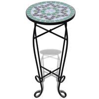 Stolík pre reastliny s zeleno bielou mozaikou