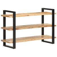 vidaXL Komoda s 3 policami 120x40x75 cm, surové mangové drevo