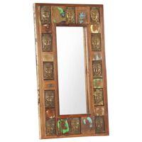 vidaXL Zrkadlo s obložením s Budhom 50x80 cm masívne recyklované drevo