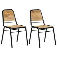 vidaXL Jedálenské stoličky 2 ks, mangový masív