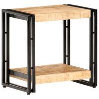 vidaXL Príručný stolík 40x30x40 cm surový mangovníkový masív