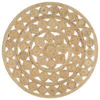 vidaXL Ručne vyrobený koberec z pletenej juty 120 cm