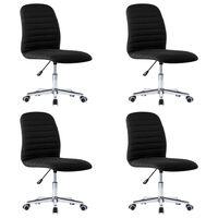 vidaXL Jedálenské stoličky 4 ks, čierne, látka