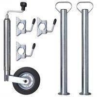 Oporné koleso s 2 opornými nohami a 3 svorkovými držiakmi 48 mm