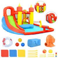 Happy Hop Nafukovací hrad so šmýkačkou a bazénikom 410x385x220 cm PVC
