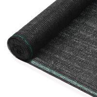 vidaXL Zástena na tenisový kurt, HDPE 1,8x25 m, čierna