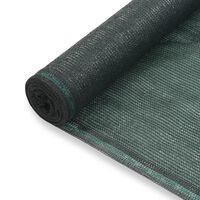 vidaXL Zástena na tenisový kurt, HDPE 1,2x50 m, zelená