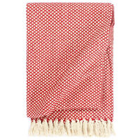 vidaXL Deka, bavlna 220x250 cm, červená