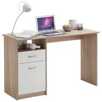 FMD Stôl s 1 zásuvkou 123x50x76,5 cm dubovo-biely