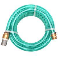 vidaXL Sacia hadica s mosadznými spojkami, 15 m, 25 mm, zelená