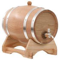 vidaXL Sud na víno s kohútikom masívne dubové drevo 6 l