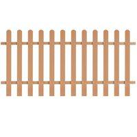 vidaXL Latkový plot, WPC 200x100 cm