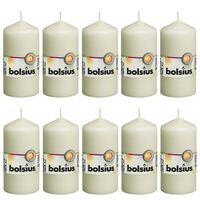 Bolsius Valcové sviečky 10 ks 120x58 mm farba slonoviny
