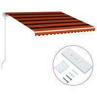 vidaXL Automatická zaťahovacia markíza oranžová a hnedá 450x300 cm