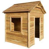 vidaXL Vonkajší domček na hranie 123x120x146 cm, borovica