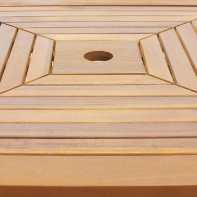 vidaXL Bistro stolík 75x75x110 cm, akáciový masív