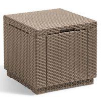 Allibert Cube Skladovacia taburetka, kapučínová 228749