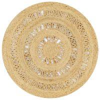 vidaXL Ručne vyrobený koberec z pletenej juty 90 cm