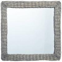vidaXL Zrkadlo 50x50 cm, prútie