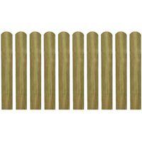 vidaXL Impregnované plotové dosky 10 ks, drevo 60 cm